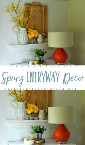 spring entryway decor