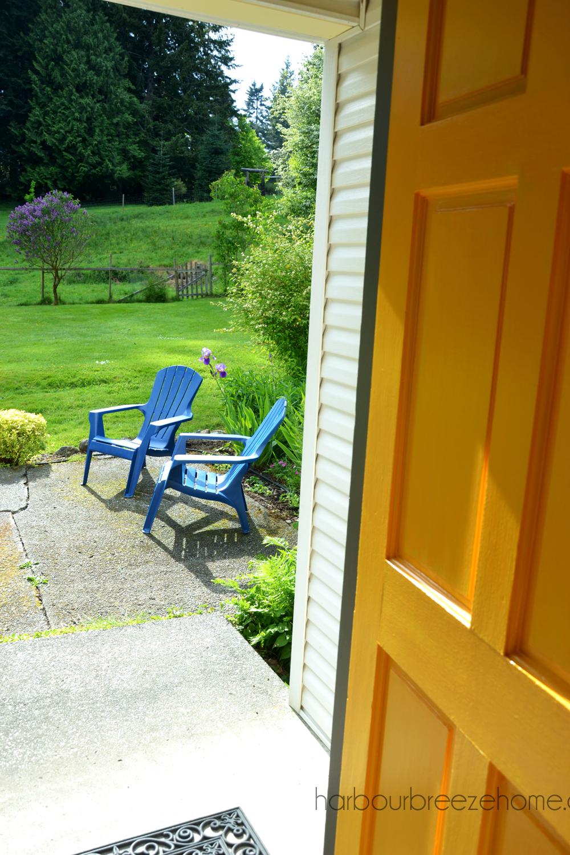 Yellow Marigold & Kendall Charcoal Front Door | Harbour Breeze Home