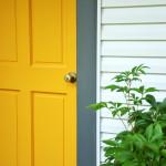 Yellow Marigold & Kendall Charcoal Front Door