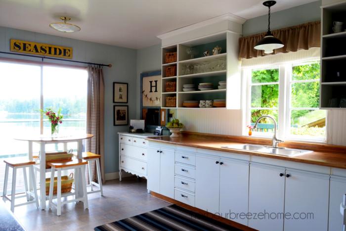 Painted European Cupboard Doors @harbourbreezehome.com