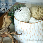 3 Tips for Coffee Table Styling & A Video!