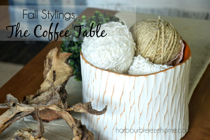 Coffee Table Styling at harbourbreezehome.com
