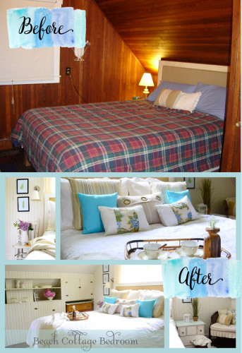 beach cottage bedroom before and after