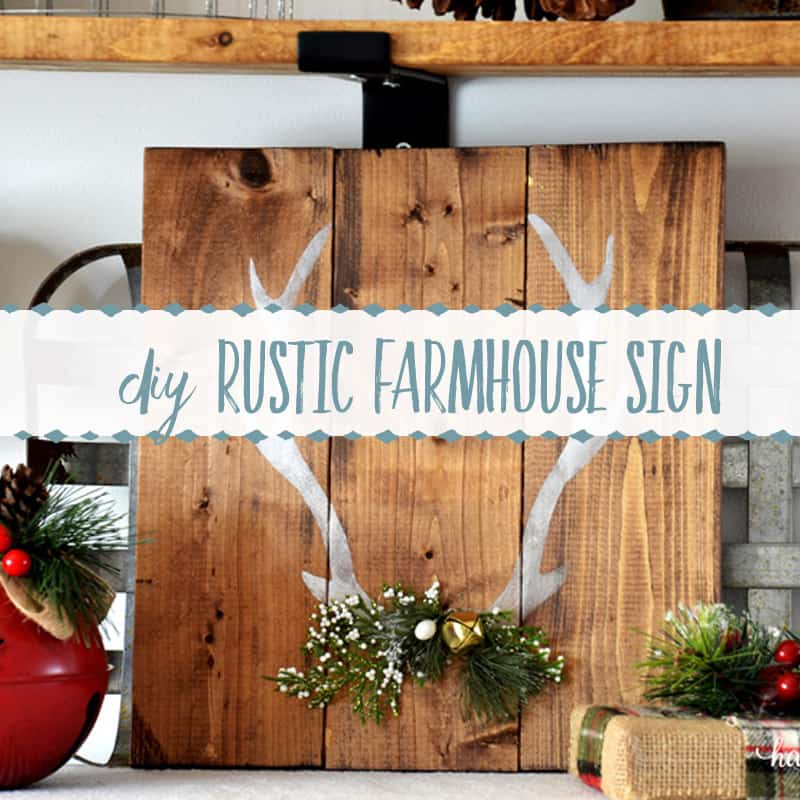 Simple DIY Farmhouse Sign for Christmas
