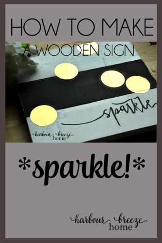 """A humorous description of a DIY wooden """"sparkle"""" sign fail that~ after multiple changes of plans ~ ended up turning out after all. Read all the details at harbourbreezehome.com."""