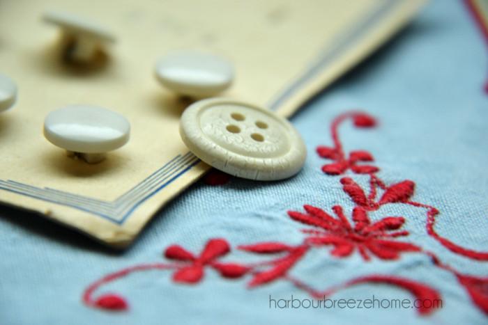 vintage linen sachets