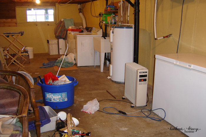 {My father-in-law deserves a medal for painting around all that terrible mess!}