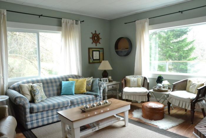 living room rearranged