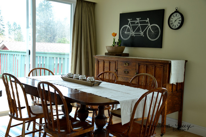 New House Tour featuring the open concept Living and Dining Room at harbourbreezehome.com