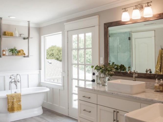 Fixer Upper Lighting Above Kitchen Window