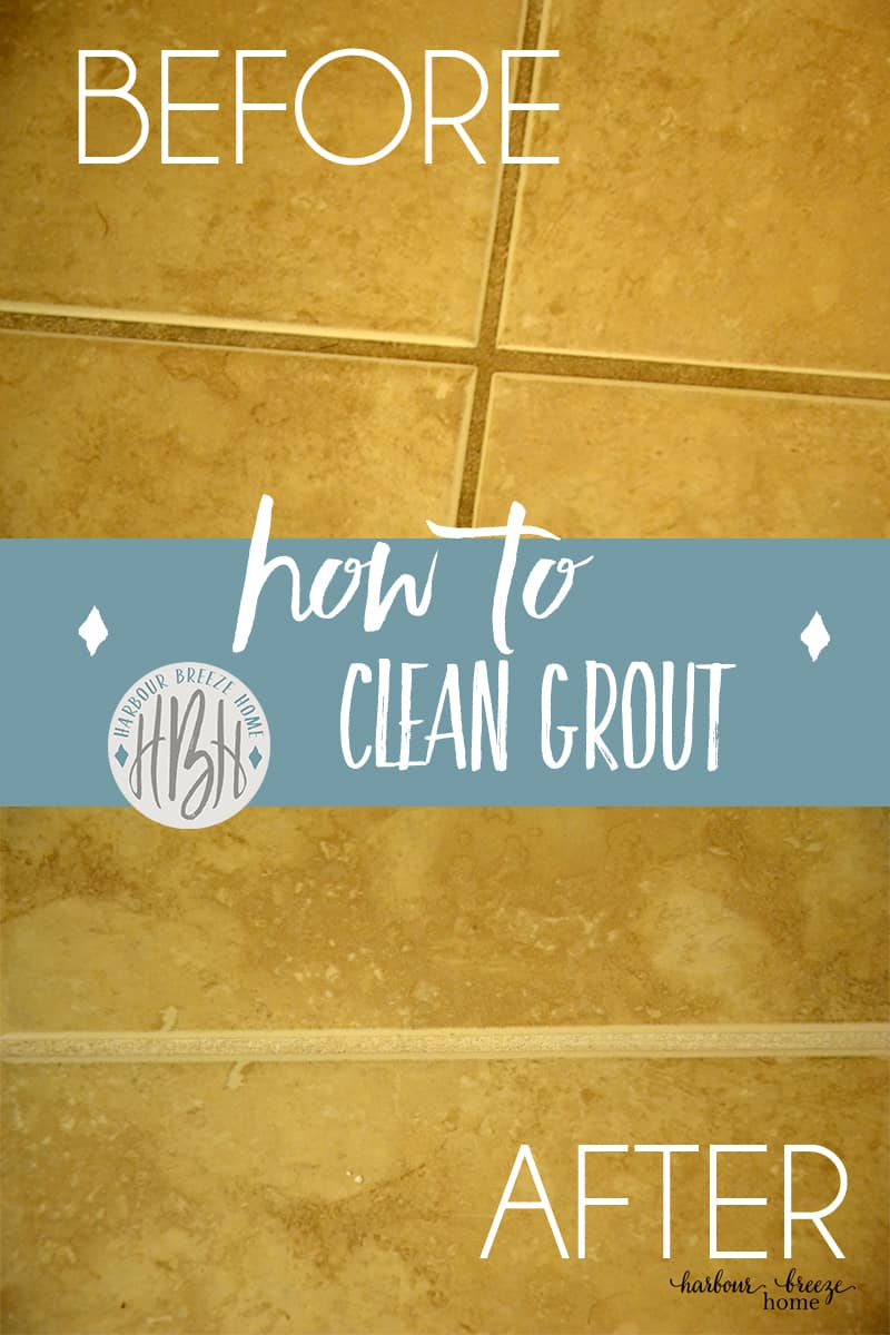 how to clean the grout between shower tiles