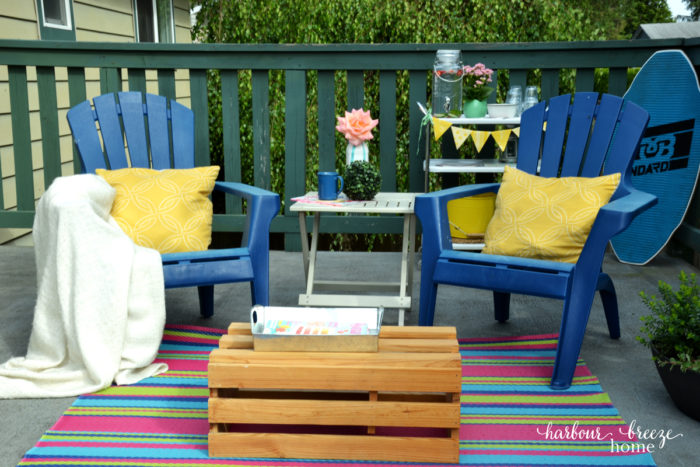 beach cottage inspired deck makeover