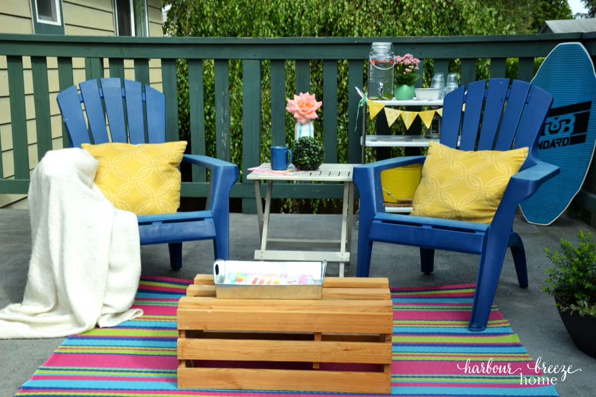 How to create a beach cottage deck when you live in the for 18th floor balcony live