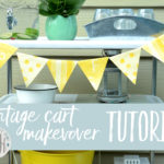 Vintage Metal Cart Makeover