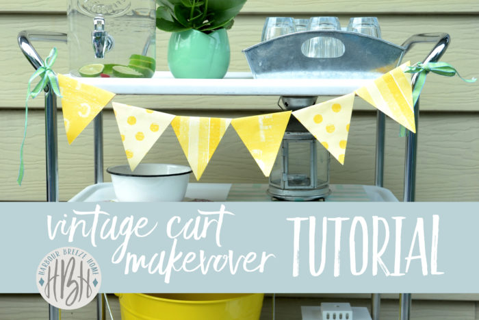 vintage metal cart makeover ~ see how to transform an eyesore into a thing of beauty again!