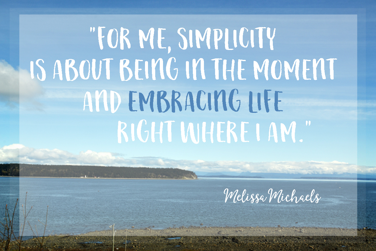"""Embracing the simplicity of life in the """"in between"""" phase of transition to a new home."""