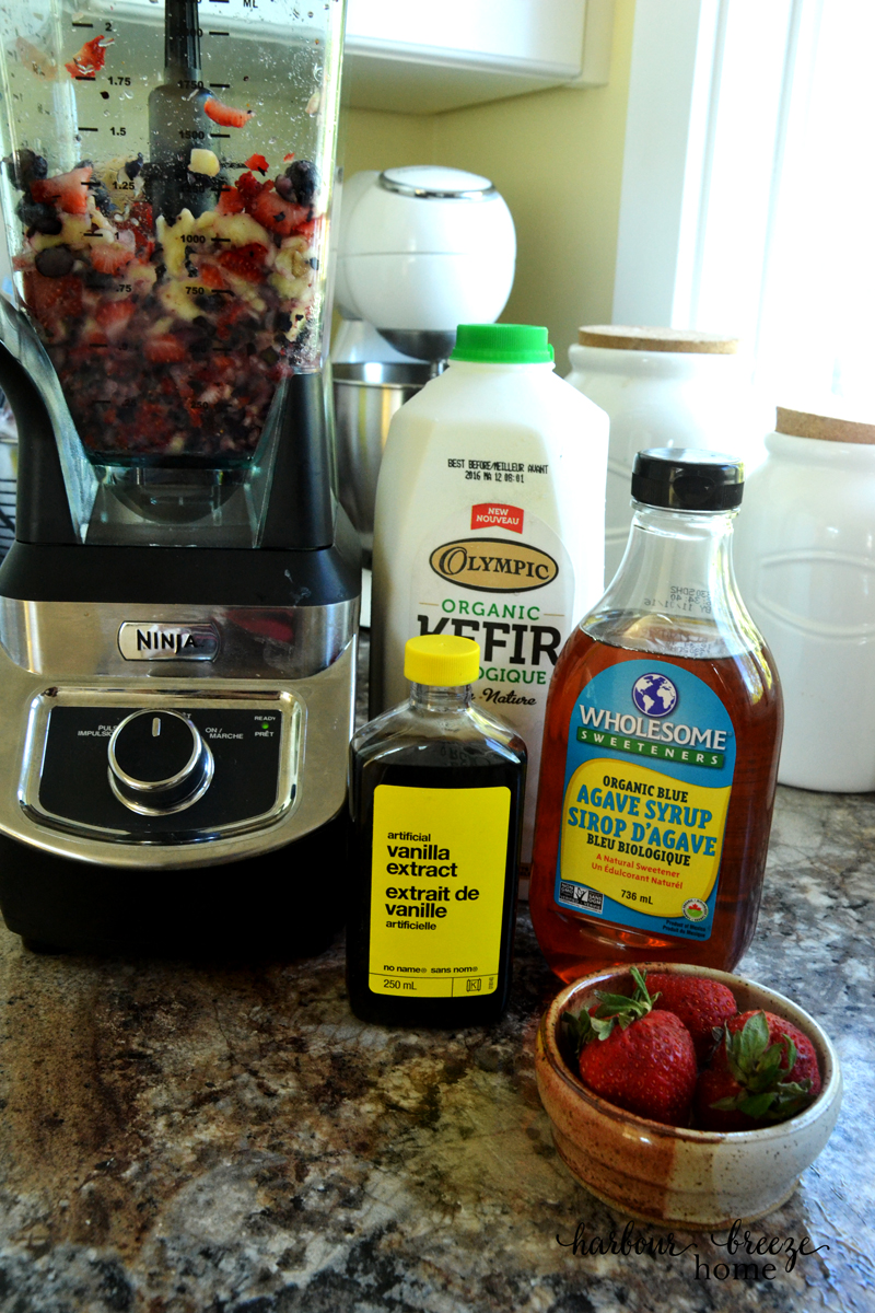 A blogger's review of kefir provided the perfect opportunity to try this delicious, good for you product. Click the link for an easy kefir smoothie recipe.
