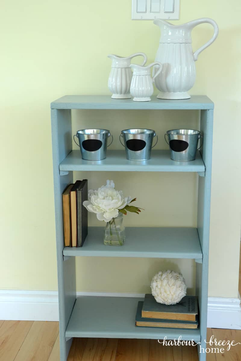 how to chalk paint a bookcase with video tutorial