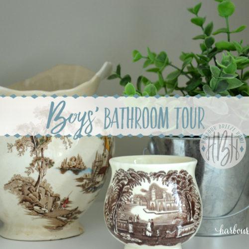 boys' bathroom tour with words