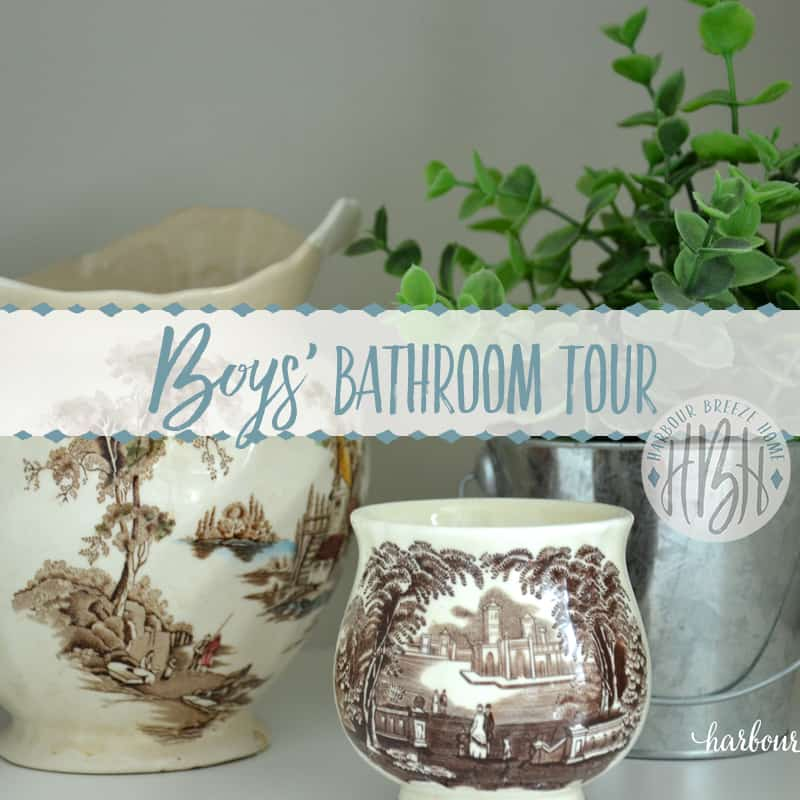 Rental House Tour ~ The Boys' Bathroom