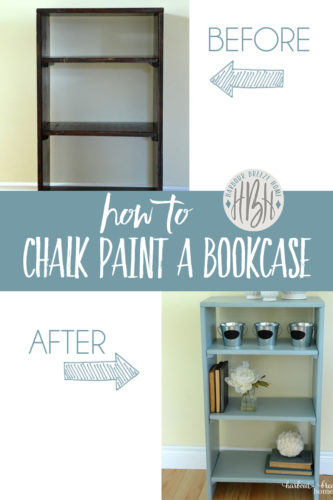 How to Use Cottage Chalk Paint to paint a bookcase