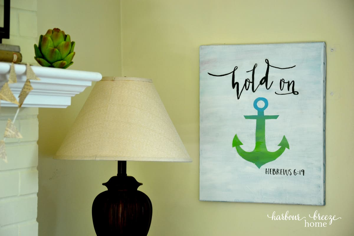 Anchor Sign Tutorial (plus a Free Printable for you!)