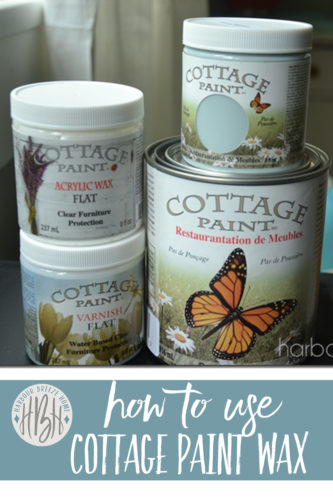 how to use cottage paint acrylic wax