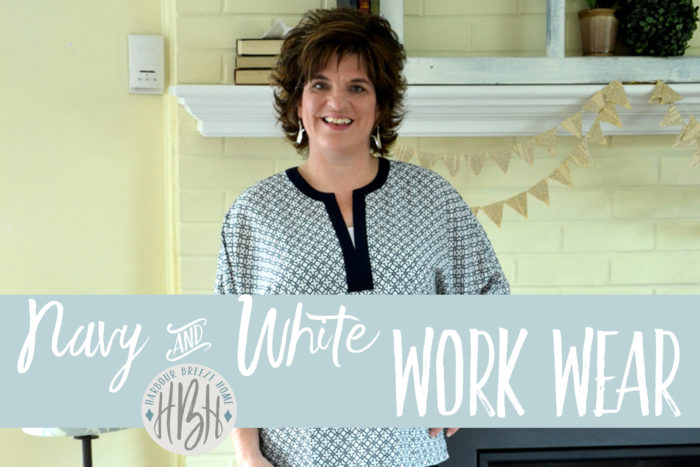 Navy & White Work Wear ~ Fashion over 40