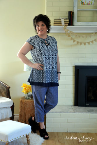 Navy & White Work Wear ~ Fashion over 40