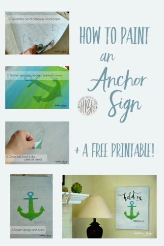 how to paint an anchor sign + a free printable