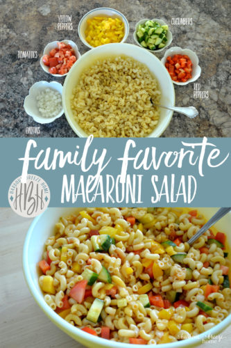 Macaroni Salad ~ a new twist on an old favorite
