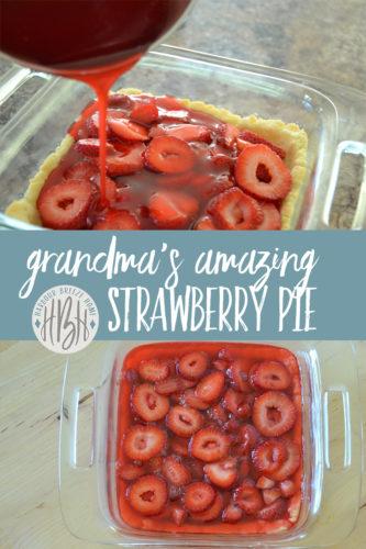 Grandma's No Bake Strawberry Pie Recipe