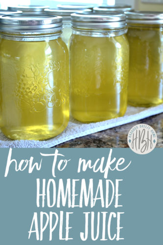 how to make homemade apple juice image for pinterest