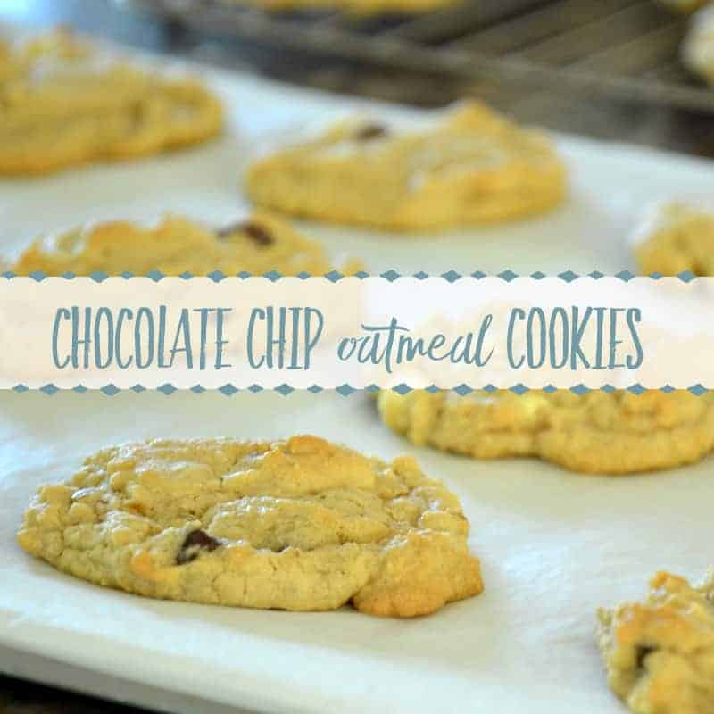 Homemade Cookie Recipe | Chewy Oatmeal Chocolate Chip Cookies