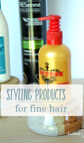 styling products for fine hair