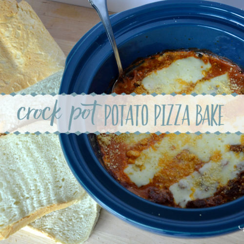 Crock Pot Potato Pizza Bake