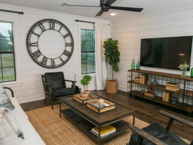 One Room Challenge ~ Modern Industrial Farmhouse Living & Dining Room Makeover at Harbour Breeze Home