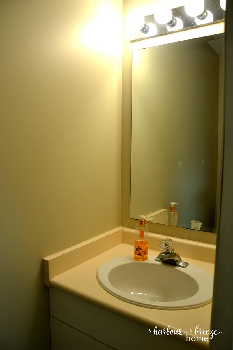 Powder Room Before & After