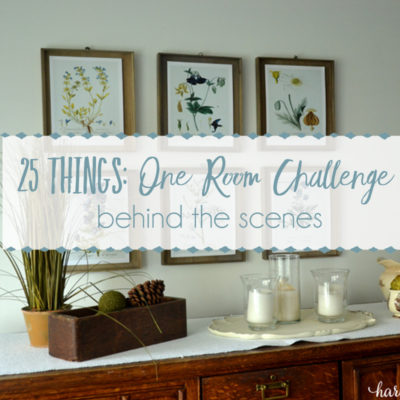 25 Things – The One Room Challenge
