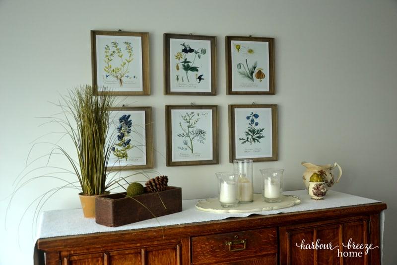 Botanical Print Wall