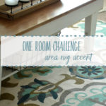 One Room Challenge ~ Area Rug Accent