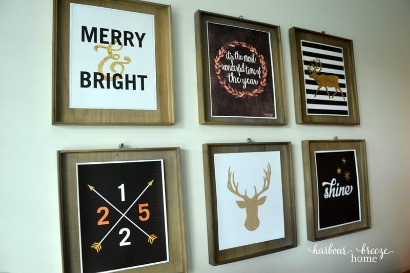 Farmhouse Christmas Decor in the Dining Room