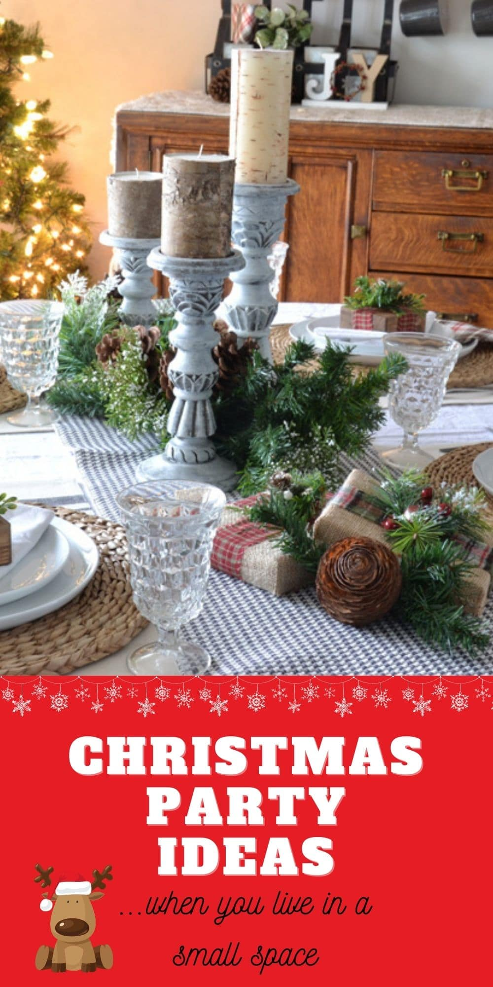 Christmas party ideas when you live in a small apartment