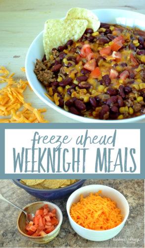 Freeze Ahead Weeknight Meals