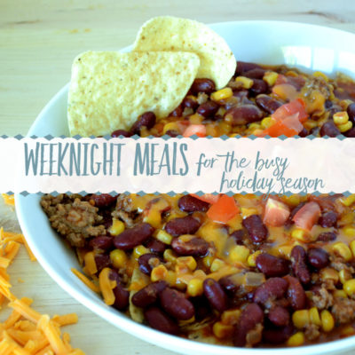 Weeknight Meals during the Busy Holiday Season