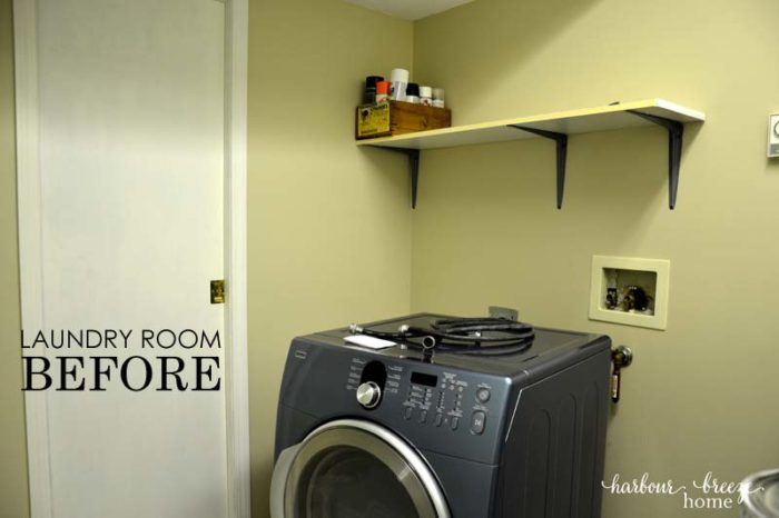 laundry room before horizontal with words