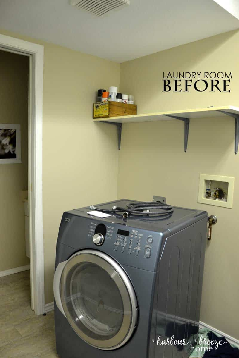 Small laundry room reveal harbour breeze home - Laundry room small space ideas paint ...