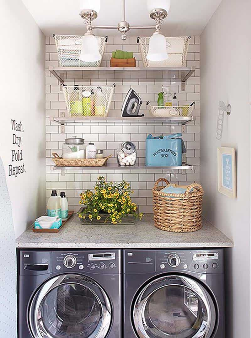 Small laundry room ideas harbour breeze home for Ideas para lavaderos