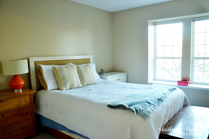 It was a whole lot of beige  and boring     and was a great blank slate to  work with  After spending lots of time dreaming and studying inspiration  pictures. Master Bedroom Makeover Reveal   Harbour Breeze Home