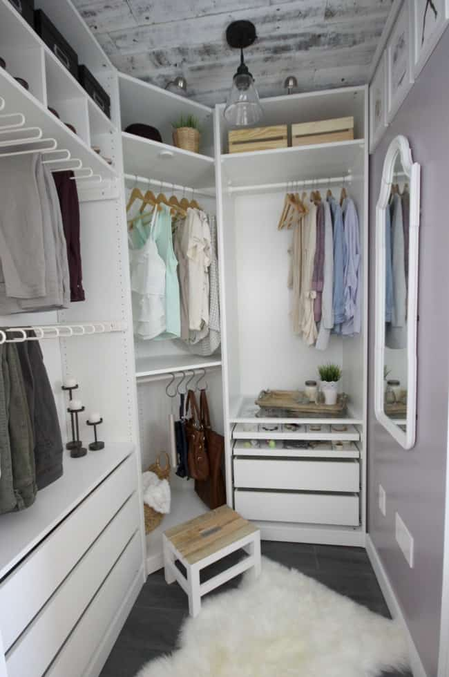 The Corner Closet With Amazing Farmhouse Details.